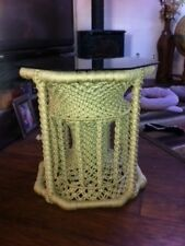MACRAME END TABLE ACCENT TABLE WASHABLE ORIGINAL FREE STANDING FRAME BEIGE