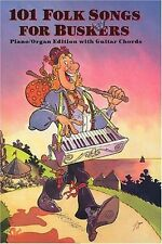 101 Folk Songs For Buskers Piano Organ Guitar Chords Trad Spiral Bound Book S115