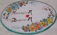 Targa targhetta per porta portone in ceramica Vietri dec Capri Vr