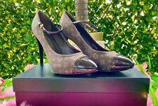 Authentic Louis Vuitton Monogram Mary Jane Pumps Size 37