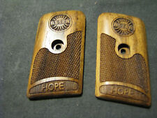 "Astra ""Hope"" English Walnut Checkered Pistol Grips w/Astra LOGO & Text NEW!"