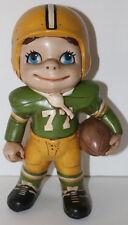 "RARE 1960's vintage Atlantic ceramic large Green Bay Packers football figure 11"""
