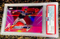 RONALD ACUNA 2018 TOPPS CHROME UPDATE PINK REFRACTOR ROOKIE SP RC PSA 10 GEM