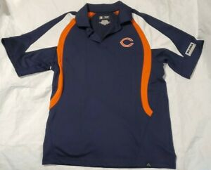 NFL Team Apparel Chicago Bears Short Sleeve Polo Golf Shirt Men Size Medium
