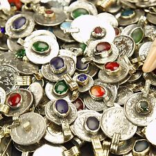 20 real Jeweled Coins Tribal Belly Dance Kuchi - Mixed Colors ( polished )