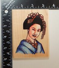 Stampabilities Asian Woman Rubber Stamp JR1017