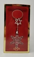 Lenox Lariat Snowflake Ornament Rare Lead Crystal Made in Germany