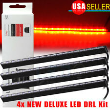 4X Pure Red 5630 18-SMD COB LED Light Bulbs Car Daytime Running DRL Fog Lamps