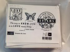 Stampin Up Dreams du Jour Butterfly Know Life Love Van Gogh Rubber Stamp Set NEW