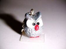 Charm Charms Eule Tiere Anhänger Fimo Grau Dangle Bettelarmband Armband