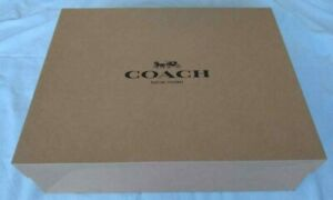 New Coach Black Carriage Logo Brown Medium - Large Gift Box for Bag Tote
