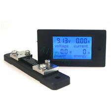 DC 6.5-100v 50A Meter Voltage Current Power Energy Combo Monitor + 50A Shunt