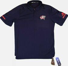 NEW Adidas NHL Columbus Blue Jackets Game Day Polo Shirt Navy Size 2XL 2X-Large