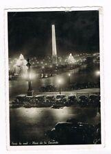 CPA/photo n&b Paris  la nuit - Place de la Concorde - 1957