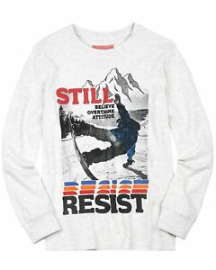 LOSAN Junior Boy's T-shirt with Snowboarder Print, Sizes 8-16