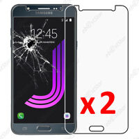 x2 Film Protection écran Verre Trempé Anti Casse Samsung Galaxy J7 2016 SM-J710F