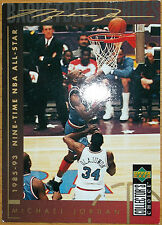 Michael air jordan nba upperdeck trading card nr 215 9 time All Star