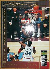 Michael Air Jordan NBA Upperdeck Trading Card Nr 215 9 time all star