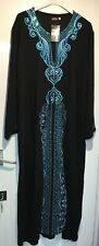 New Blue SEQUIN Indian SUMMER HOLIDAY Kaftan Maxi Dress PLUS SIZE XL 14-16-18-20