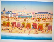 Ledan François Dit Fanch- Original Lithograph Signed Debut Casino of Deauville