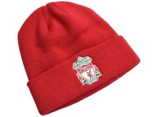 fce0adfb184 Liverpool Football Club Official Red Turn Up Beanie Hat Crest Adult One Size