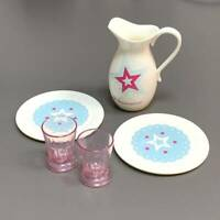 """Set of 5 Pcs Saucer Cup Accessories Fit For 18/"""" American Girl dolls Toy 99/%new"""