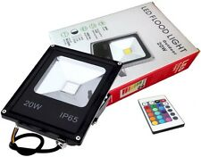 FOCO PROYECTOR LED COLOR RGB 20W + Mando Remoto - Exclusivo con Memoria de Color