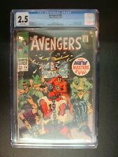 Avengers #54 Graded CGC 2.5 1st App New Masters of Evil Silver Surfer Ad Marvel