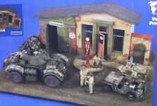 French Gas Garage Road Stop Front WWII ALL RESIN 1/35 Vintage Verlinden 2654 NEW