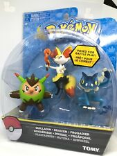 TOMY Pokemon Quilladin + Braixen + Frogadier Set 3 Figures New Rare
