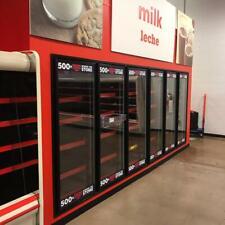 Hill Phoenix Walk In Cooler 14 W X 18 L X 10 Tall With 6 Glass Reach In Doors