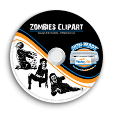Zombies Clipart Vector Clip Art Vinyl Cutter Plotter Images Ampt Shirt Graphics Cd