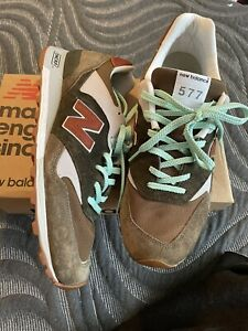new balance 577 OTG made in UK worn once with box green teal gum bottom