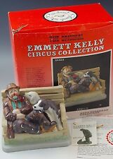 Emmett Kelly A Dog'S Life Clown Circus Collection Ceramic Figurine Ltd Mib
