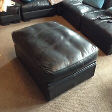 marks and spencer Black Leather single bed pouffee / foot stool