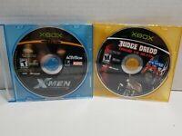 Microsoft Xbox Video Game Lot X-Men Legends II & Judge Dredd Vs Death Tested