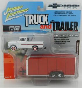2018 Johnny Lightning *TRUCK & TRAILER 2B* 1965 Chevy Pickup w/ENCLOSED TRAILER