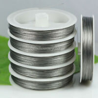 5 rolls (total 500m) 0.38mm/0.45mm steel tiger tail beading wire cord thread