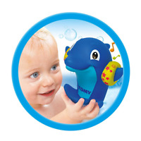 TOMY Baby Toddler Bath Toy Dolphin Water Whistlers  - Blue