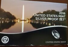 2016 S United States Mint Silver Proof Set-13 Coins Box & COA