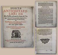 Waldenfels ANTIQUITATIS LIBRI XII. 1677 Geschichte Völkerwanderung Migration xz