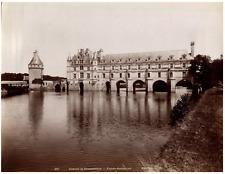 ND. France, Château de Chenonceau, Façade Occidentale  Vintage albumen print.