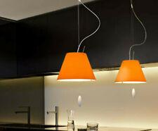 Costanzina coppia 2 Costanzine lampade  arancio Luceplan sospensione