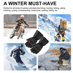 Electric Battery Operated Waterproof Touchscreen Heated Gloves for Motorcycle