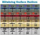 """Blitzkrieg   65 """"Surface Raiders"""" Die-Cut Naval Counters"""