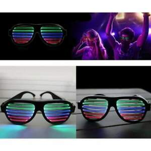 Sound Activated LED Equaliser Glasses Multicolour Glasses Rechargeable Shades