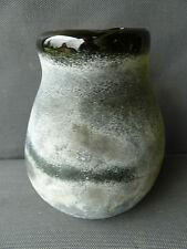 Antiguo jarrón de cristal verde, vieux depoli diseño xx e vintage french