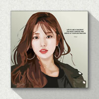 Suzy SM K-Pop Art Printed on Acrylic Frame Print Wall Poster Painting 25cm