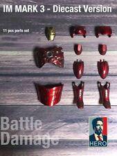 Custom 1/6 Battle Damage Red Armor  Kit For Hot Toys Diecast Iron Man MK III 3