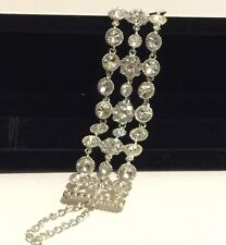 Silver plated Quality Bracelet with imitation diamonte stones